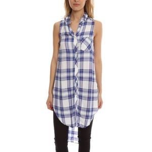 RAILS jordyn button down t-shirt dress szS
